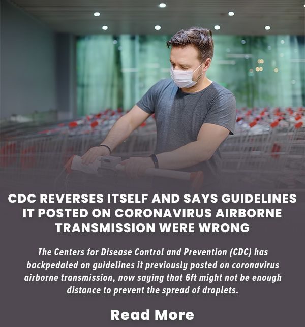 CDC Reverses Itself And Says Guidelines It Posted On Coronavirus Airborne Transmission Were Wrong